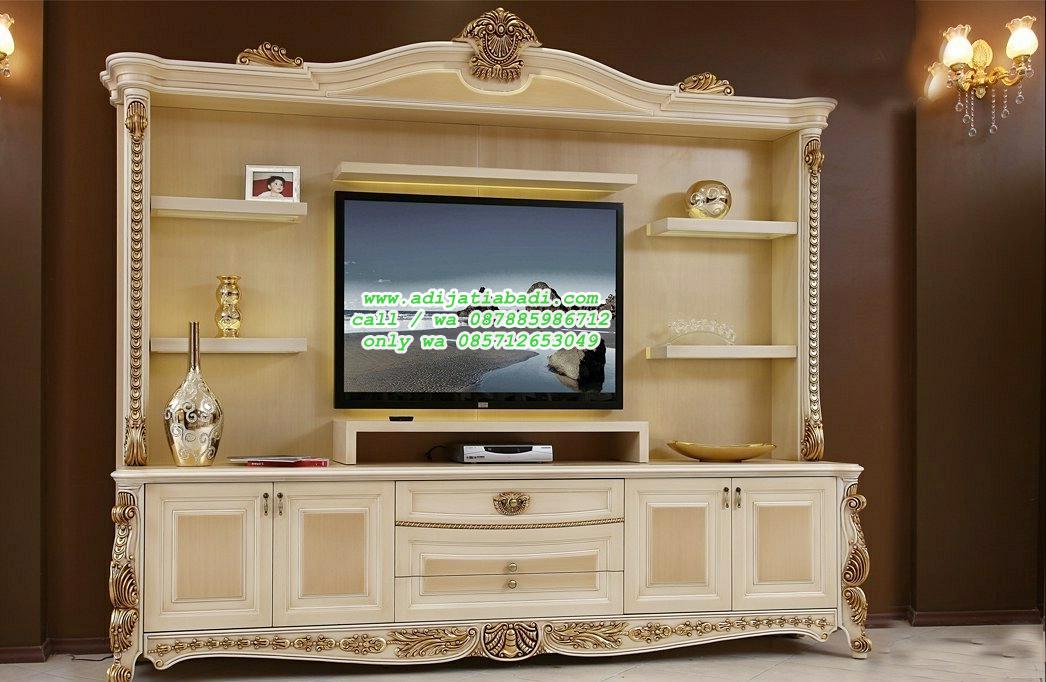 lemari TV klasik Moderen