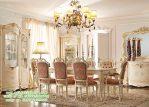 Set Ruang Makan Mewah, set kursi makan mewah, set kursi makan klasik, desain kursi makan model terbaru