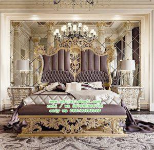 Tempa Tidur Mewah Klasik Biground Kaca