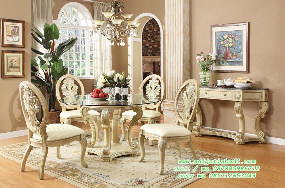 desain kursi makan sandaran ukir klasik