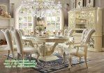 Set Kursi Makan Klasik moderen ivory pearl white