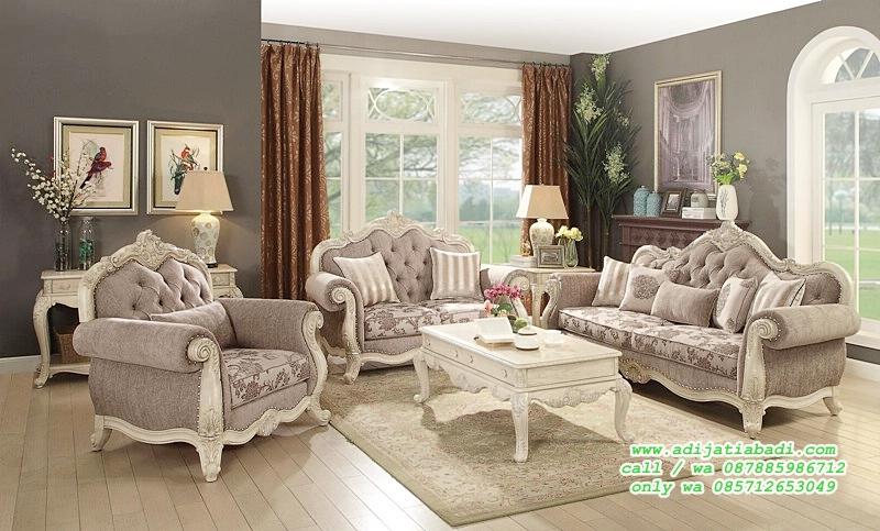 set sofa tamu ukir klasik moderen