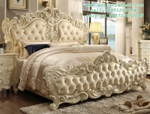 Tempat Tidur Ukiran Baroque Modern