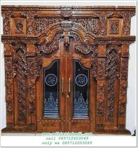 Pintu Gebyok Kaligrafi Allah