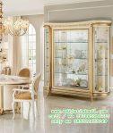 lemari kristal klasik melodia, desain almari hias ruang makan kaca