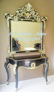 Meja Konsul Klasik Black gold, Meja Hias Ruang Tamu Mewah