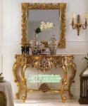 Set Meja Hias Ruang Tamu Klasik Moderen, Meja Konsul Ukir Mewah