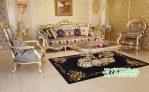 Set Ruang Tamu Desain Klasik silver campegn