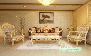 Set Sofa Tamu victoria Klasik white gold