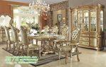 Set Ruang Makan Kalsik gold silver campegn