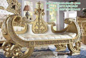 Bangku Sofa Ukiran Mahkota